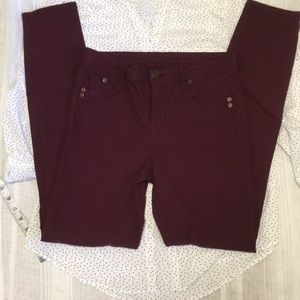 3/$10 Dark maroon skinnies